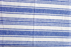 Striped tablecloth Royalty Free Stock Images