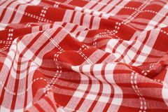 Tablecloth background. Striped tablecloth texture as a background, closeup picture Stock Images