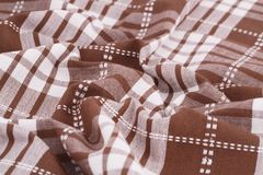 Tablecloth background. Striped tablecloth texture as a background, closeup picture Stock Image