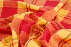 Tablecloth background. Striped tablecloth texture as a background, closeup picture Royalty Free Stock Images