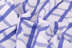 Tablecloth background. Striped tablecloth texture as a background, closeup picture Royalty Free Stock Image