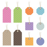 Striped tags Royalty Free Stock Photography