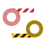 Striped tape vector illustration vector illustration