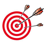 Striped Target with archer arrows Royalty Free Stock Photo