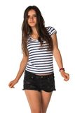 Striped tee Stock Images