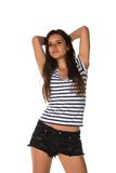 Striped tee Royalty Free Stock Images
