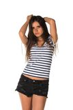 Striped tee Royalty Free Stock Photo