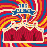 Striped tent icon. Circus and Carnival design. Vector graphic royalty free illustration