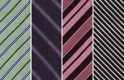 Striped Textile Swatches. Details of Four Cotton Textile Swatches with Stripes royalty free stock photos