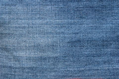 Striped textured blue used jeans denim linen vintage background Royalty Free Stock Photo