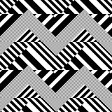 Striped Textured Geometric Vector Seamless Pattern Stock Photos
