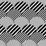 Striped Textured Geometric Vector Seamless Pattern Royalty Free Stock Photos