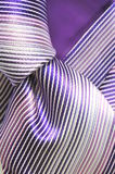 Striped tie knot Stock Images
