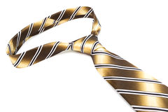 Striped tie with knot Stock Image
