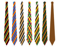 Striped ties Stock Image
