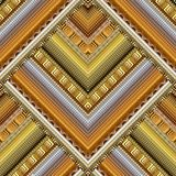 Striped tribal geometric seamless pattern. Vector greek key mean. Ders background. Ornate wallpaper design. Bright ethnic ornaments. 3d ornamental meander vector illustration