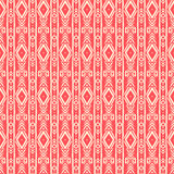 Striped tribal pink pattern Stock Photos