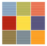 Striped tube pattern collection in different color Stock Images