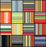 Striped tube patterns in rainbow color over black Stock Image