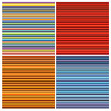Striped tube patterns in rainbow color over white Stock Photography