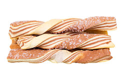 Striped twisted biscuits Royalty Free Stock Photography