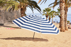 Striped umbrella Royalty Free Stock Image