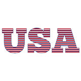 Striped USA Stock Photo