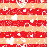 Striped Valentine`s day background. Red striped Valentine`s day background Royalty Free Stock Image