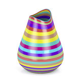 Striped vase Royalty Free Stock Images