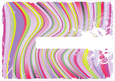 Striped vector-background Stock Photo