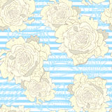 Striped vintage seamless pattern vector illustration