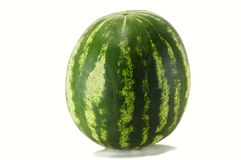 Striped watermelon Stock Photo