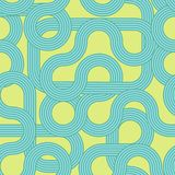 Striped waves seamless pattern. Background modern. Trendy abstract pop ornament. Minimalistic design. 70th vector illustration