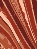 Striped wavy background in earth tone colour. Vector illustration Royalty Free Stock Photography