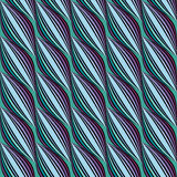 Striped Wavy Seamless Pattern Royalty Free Stock Photos
