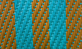 Striped weave turquoise with brown. Texture, style, rectangle Stock Photo