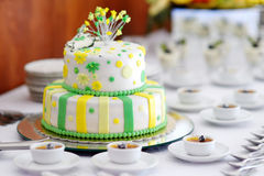 Striped wedding cake Royalty Free Stock Image