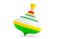 Striped Whirligig Toy Stock Photography