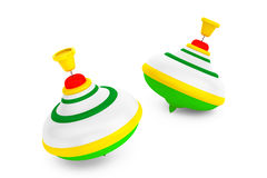 Striped Whirligig Toys Royalty Free Stock Photography