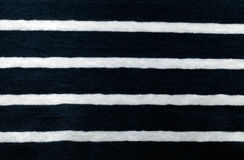 Striped white and blue cotton fabric Stock Images
