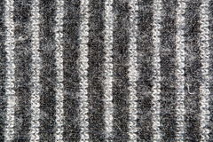 Striped white and gray weave wool yarn closeup Stock Image