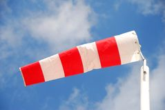 Striped windsock Stock Images