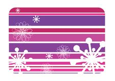 Striped winter background with snowflakes Royalty Free Stock Photo