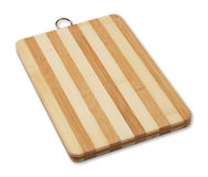 Striped wooden cutting board Royalty Free Stock Photos