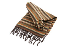 Striped wool scarf Royalty Free Stock Images
