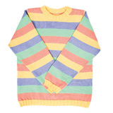 Striped woolen sweater Royalty Free Stock Photo