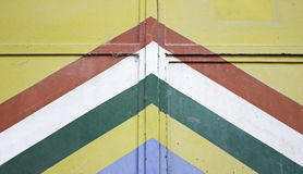 Door with stripes Stock Photography