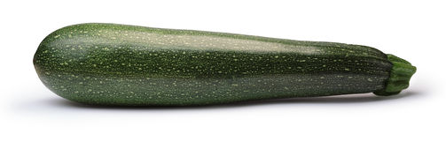 Striped zucchini whole, paths. Whole long striped zucchini (Cucurbita Pepo). Clipping paths, shadows separated, infinite depth of field. Design elements Stock Image