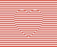 Stripes вектор сердца Иллюстрация предпосылки дня валентинок Стоковая Фотография