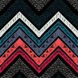 Stripes яркая племенная безшовная картина с зигзагом Стоковая Фотография